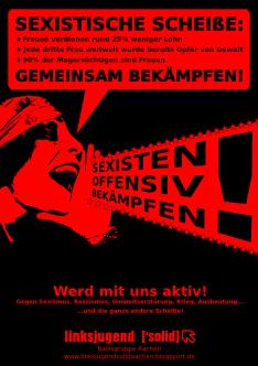 Plakat Sexismus Bekämpfen